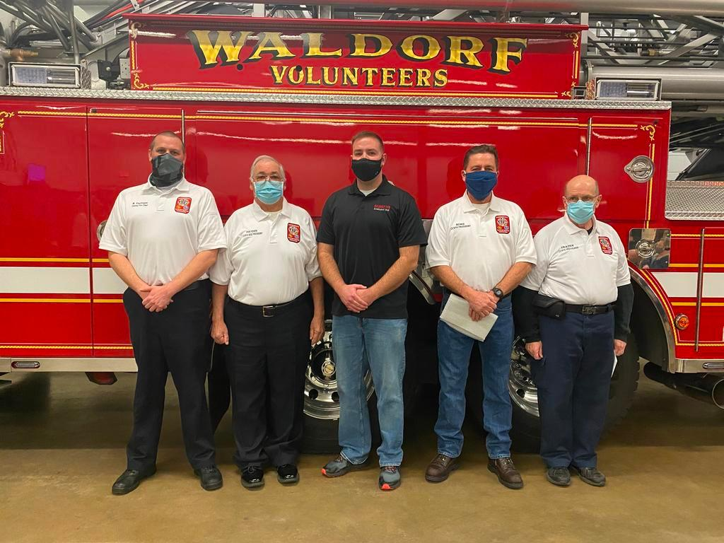 Fire Association Officers with Waldorf Past Chief Ben Jenkins